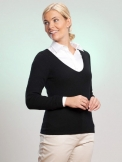 V-Pullover LOLA 100% Cashmere, tailliert